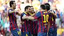 Euphoria against Levante. PHOTO: MIGUEL RUIZ-FCB.