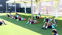 Players recover after Sunday's La Liga opener / PHOTO: MIGUEL RUIZ - FCB