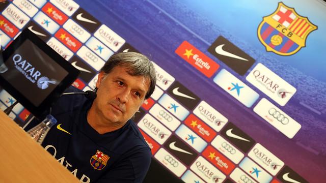Gerardo martino, durant la roda de premsa. FOTO: MIGUEL RUIZ - FCB
