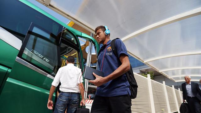 Neymar Jr in a previous trip/ PHOTO: MIGUEL RUIZ-FCB