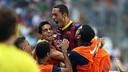 Barça went in one up at the break thanks to Adriano's strike / PHOTO: MIGUEL RUIZ - FCB