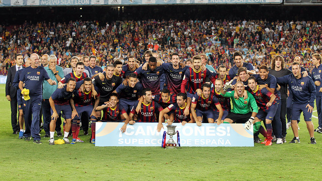 The team with the trophy / PHOTO: MIGUEL RUIZ-FCB