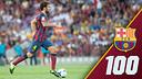Cesc Fàbregas va complir 100 partits amb el FC Barcelona