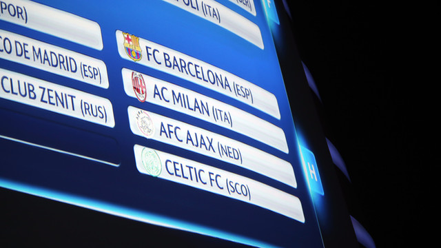 Barcelona, AC Milan, Ajax and Celtic Glasgow in Group H / PHOTO: MIGUEL RUIZ - FCB