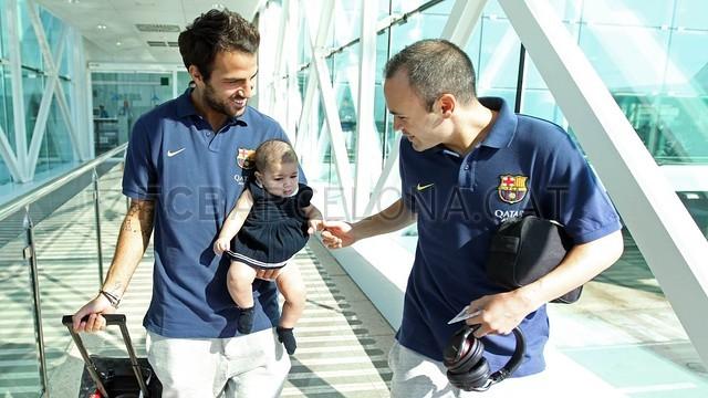 تیم بارسلونا در راه والنسیا