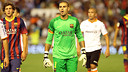 Victor Valdés captained FC Barcelona against Valencia / PHOTO: MIGUEL RUIZ-FCB