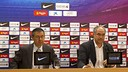 Bartomeu and Zubizarreta on Tuesday / PHOTO: MIGUEL RUIZ - FCB