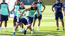 Gerard Piqué training on Wednesday / PHOTO: MIGUEL RUIZ - FCB