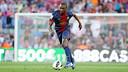 Abidal in a match agianst Màlaga. PHOTO: Archive FCB