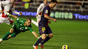 Messi beats former Barça man Rubén on the last trip to Vallecas (0-5) / PHOTO: MIGUEL RUIZ-FCB