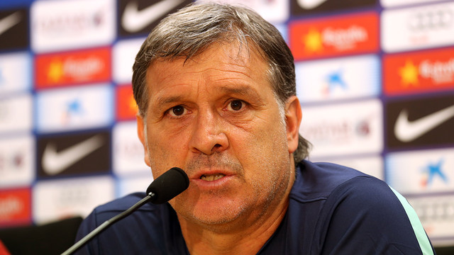 Martino, during his press conference / PHOTO: MIGUEL RUIZ-FCB