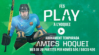 Roller hockey friends promotional image explaining that it costs 52 euros for the season