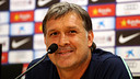 Tata Martino speaks to the press on Friday. PHOTO: MIGUEL RUIZ-FCB.