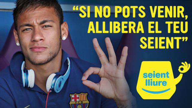 The Seient Lliure Campaign, with Neymar making the OK sign