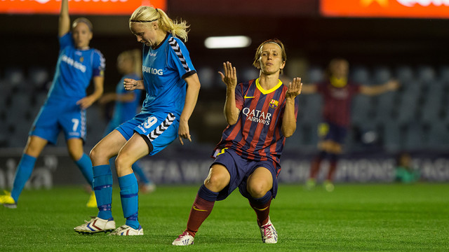 Sonia playing against Brondby
