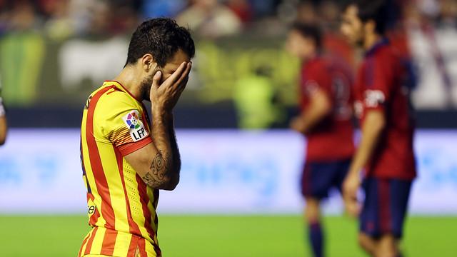 Cesc lamenta una oportunitat perduda / FOTO: MIGUEL RUIZ-FCB
