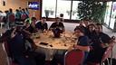 Els jugadors, concentrats / FOTO: Pinto (Twitter)