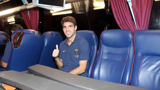 Cesc, dins de l'autocar / FOTO: MIGUEL RUIZ-FCB
