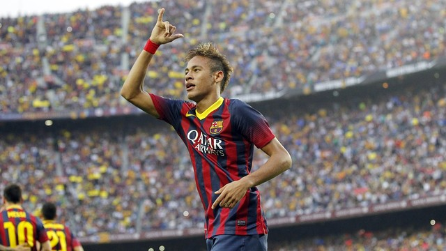 Neymar, au Camp Nou / Photo Miguel Ruiz