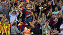 Alexis celebrating his goal against Madrid. PHOTO: MIGUEL RUIZ-FCB.