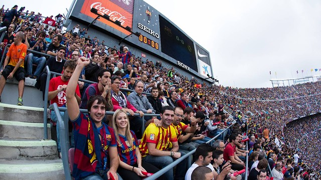 Photo during the FC Barcelona-Real Madrid game. PHOTO: G.PARGA- FCB