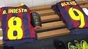 Iniesta and Alexis' shirts at Balaídos