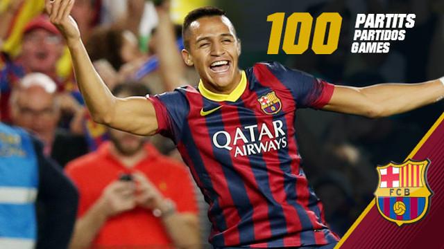 Alexis ha arribat als 100 partits com a blaugrana.