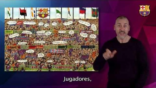 fc barcelona video himno: