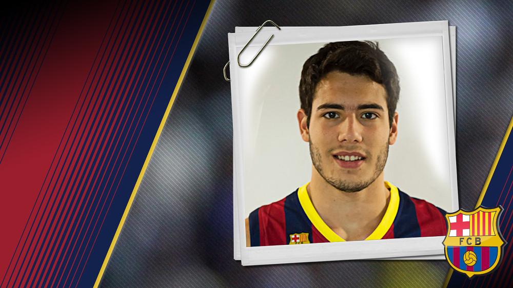 Imatge oficial d'Abrines amb la samarreta del FC Barcelona