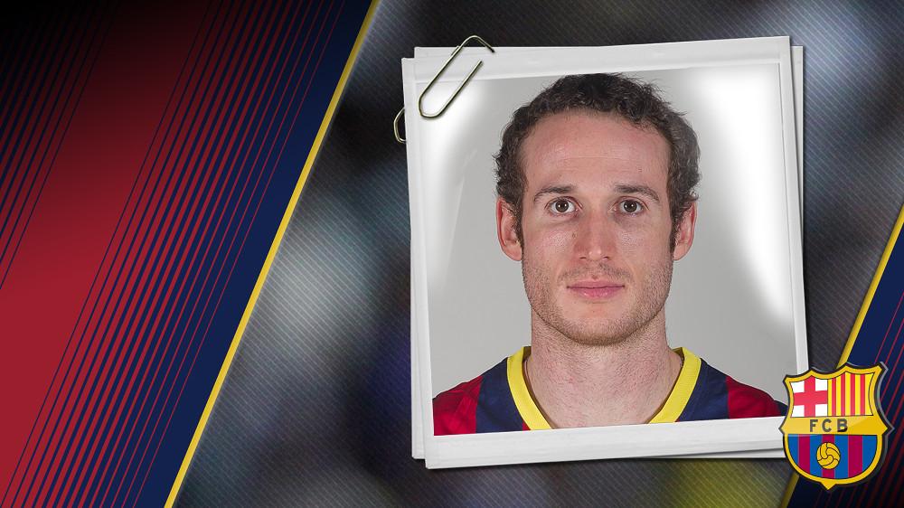 Imatge oficial de Huertas amb la samarreta del FC Barcelona