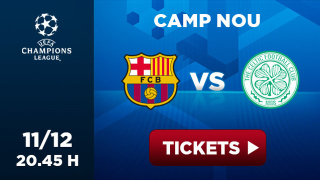 Promotional picture of the matx Barça-Celtic at Camp Nou, 11/12 20.45h