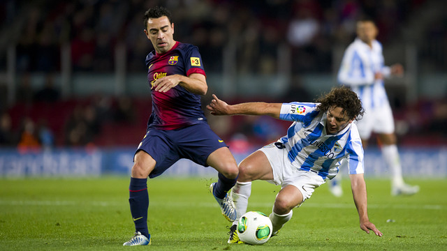 Xavi in a Cup match last season. PHOTO: Archive FCB