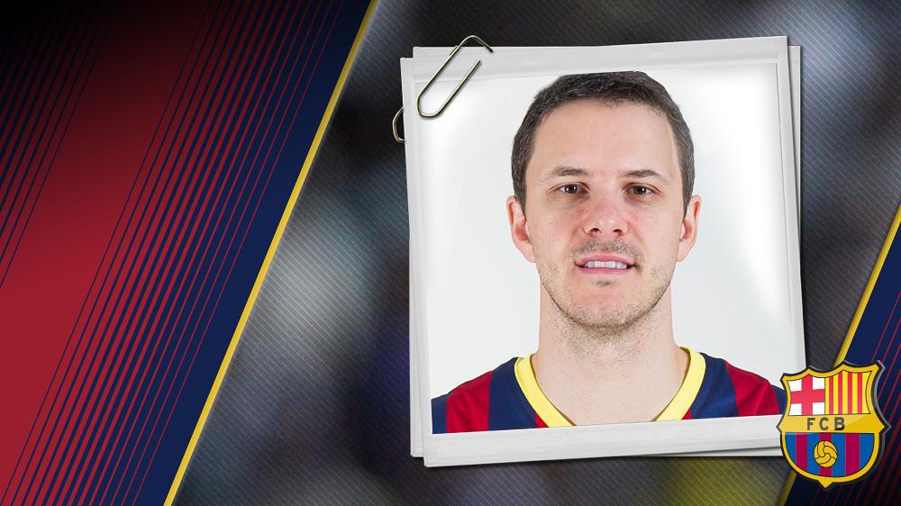 Imatge oficial de Nachbar amb la samarreta del FC Barcelona