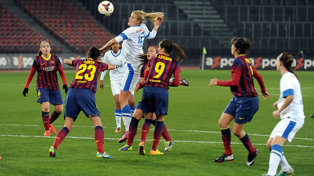Women's team in the Champions League