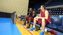 Dorsey may have team-mate Erazem Lorbek on court tonight depending on last-minute decision/ PHOTO: FCB