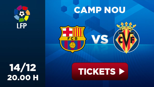 Promotional picture of the matx Barça-Villareal at Camp Nou, 14/12 20h