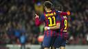 Neymar Jr i Alexis celebren el tercer gol del FC Barcelona / FOTO:VÍCTOR SALGADO-FCB