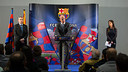 Reception with supporters clubs FCB - Granada