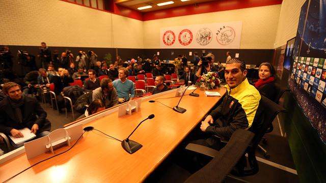 José Manuel Pinto, en la sala de prensa del estadio Amsterdam Arena