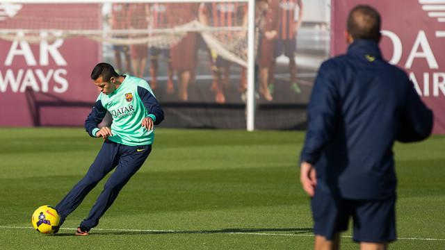 Alexis, at training. PHOTO: GERMÁN PARGA- FCB