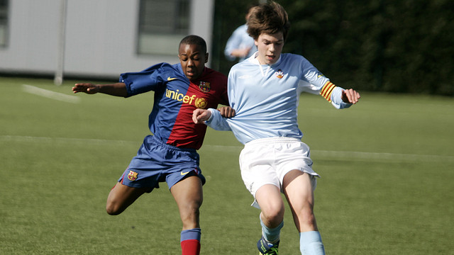 Adama Traoré playing for the U13 team in the 2008/09 season / PHOTO: FCB ARCHIVE