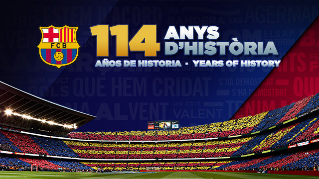 FC Barcelona is 114 years old on November 29, 2013