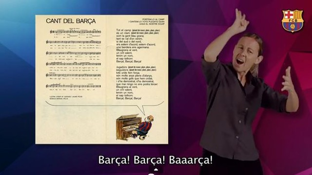 The Barça anthem, in sign language