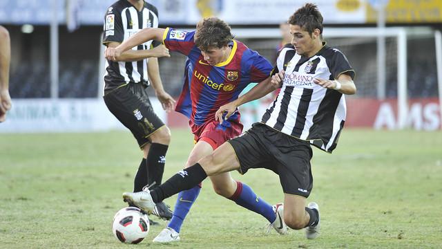 Sergi Roberto against Cartagena. Photo: AMPress.