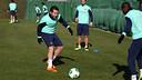 Jordi Alba, at Thursday's training session. PHOTO: MIGUEL RUIZ-FCB