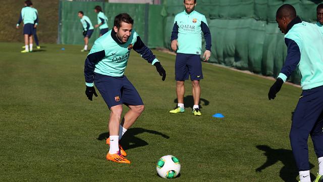 Jordi Alba in training. PHOTO: MIGUEL RUIZ-FCB.