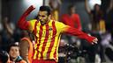 Pedro celebrates scoring in Cartagena / PHOTO: MIGUEL RUIZ-FCB