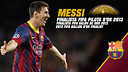 Leo Messi:  Again in the final three for Ballon d'Or
