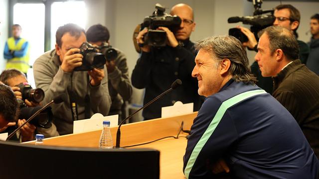 Martino in his press conference this Tuesday. PHOTO: MIGUEL RUIZ-FCB.