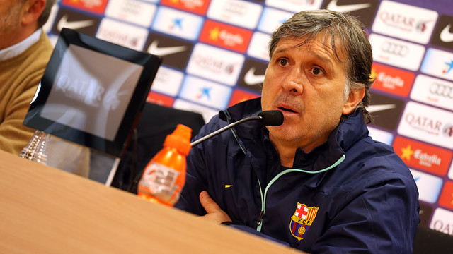 Martino in his press conference ahead of the clash with Villarreal. PHOTO: MIGUEL RUIZ - FCB